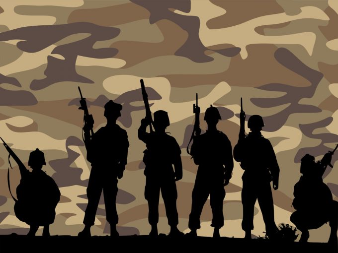 Band of Brothers Army PPT Backgrounds