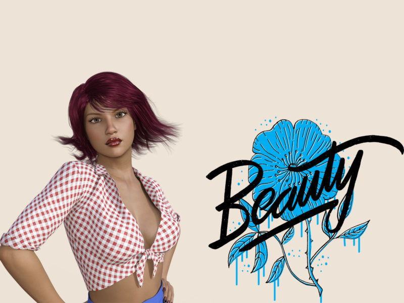 Beauty Woman PPT Backgrounds