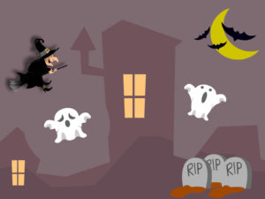 Black Magic Halloween PPT Backgrounds