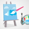 Canvas and Paint Powerpoint Backgrounds