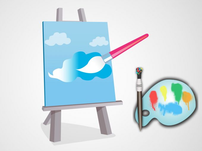 Canvas and Paint PPT Backgrounds