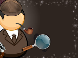 Comic Detective PPT Backgrounds