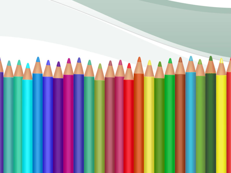 Crayons Supplies PPT Backgrounds