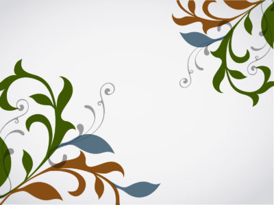 Floral Vector Design Powerpoint Templates