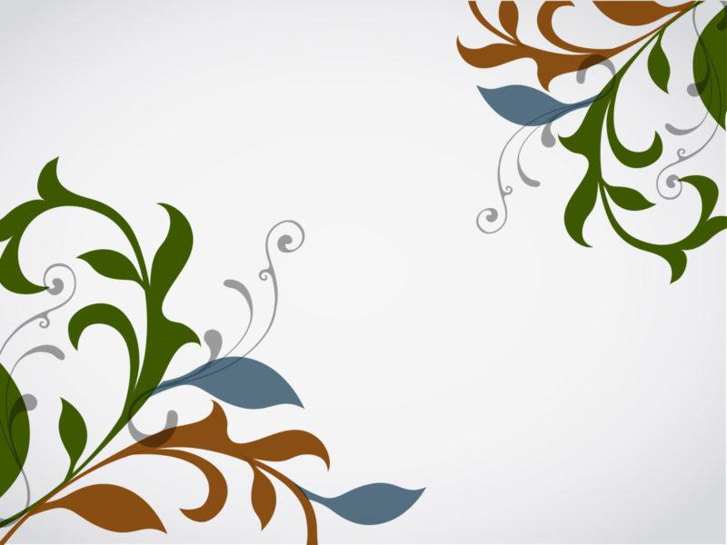 Floral Vector Design Powerpoint Templates