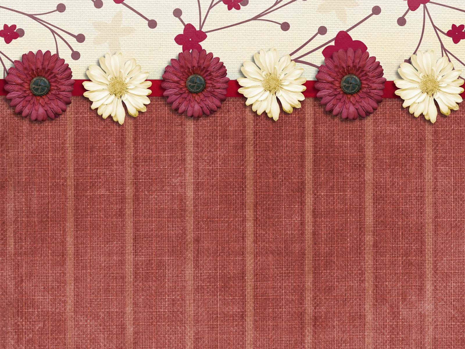 Flower Border Powerpoint Templates