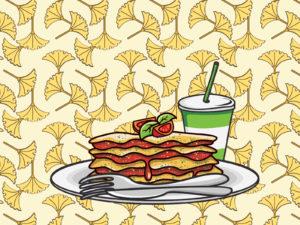 Lasagna Plate PPT Backgrounds
