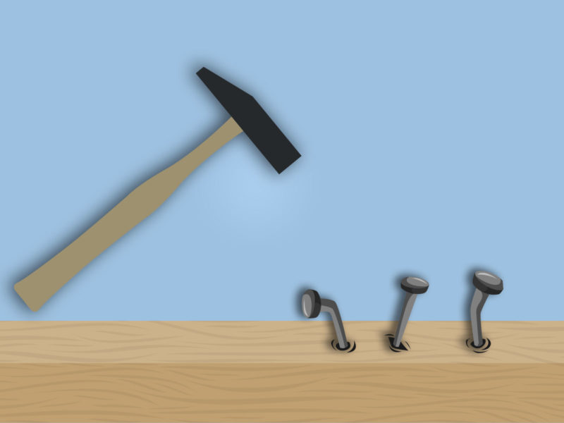 Nails and Hammer PPT Backgrounds