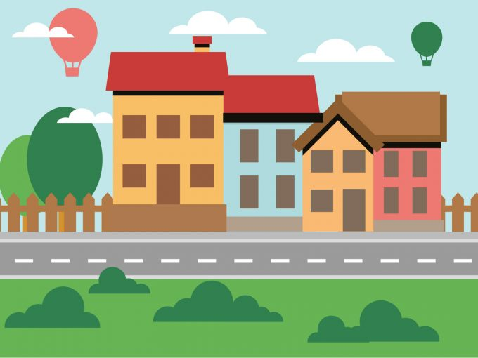 Neighborhood Life PPT Backgrounds
