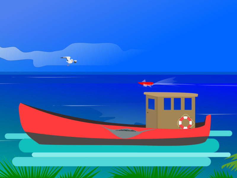 Ocean Fishing PPT Backgrounds