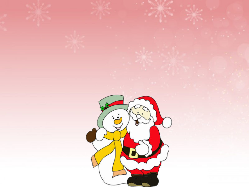 Snowman and Santa Claus PPT Backgrounds