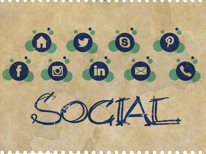 Social Media Icons PPT Backgrounds