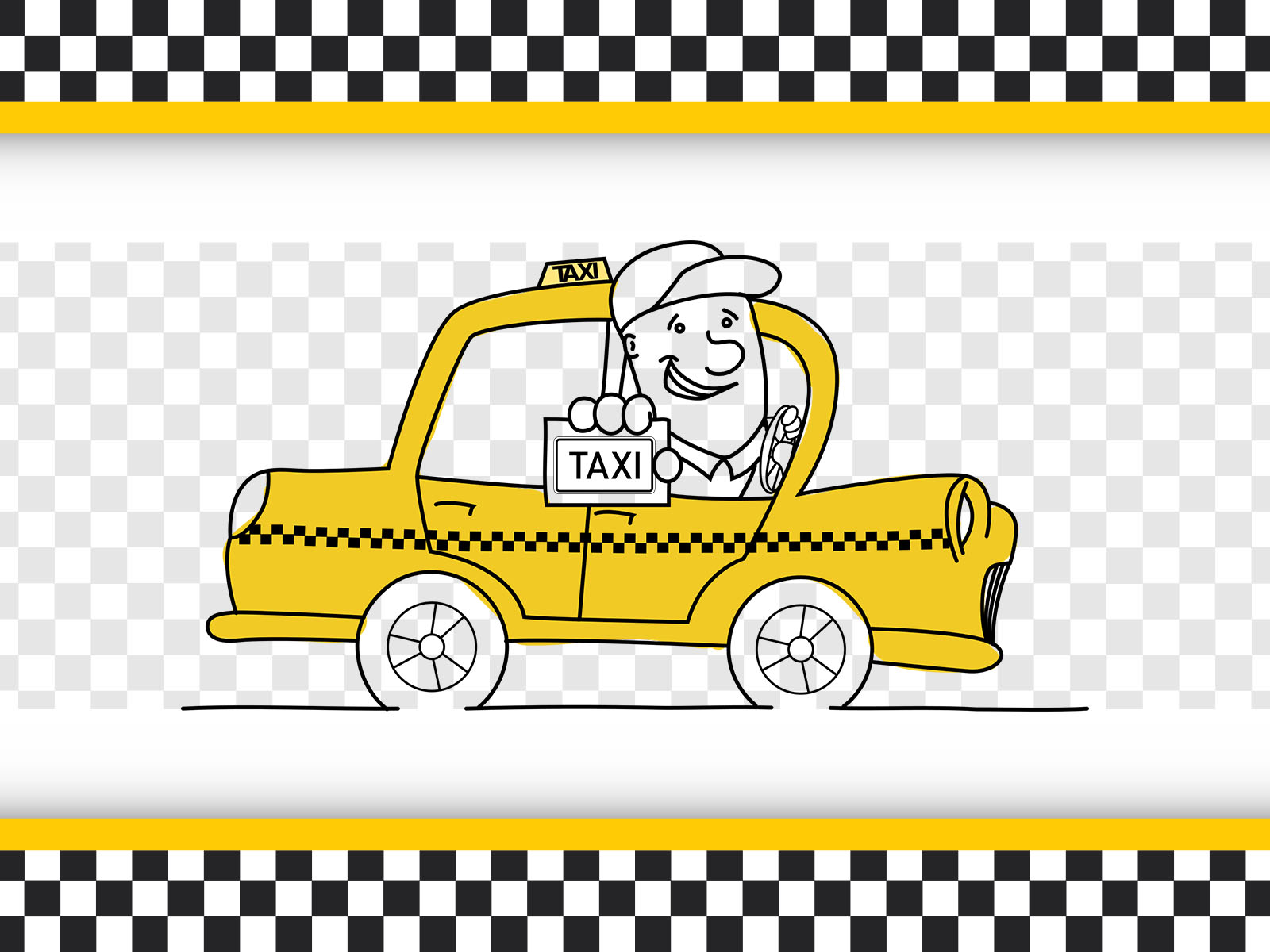 Taxi Driver Powerpoint Templates