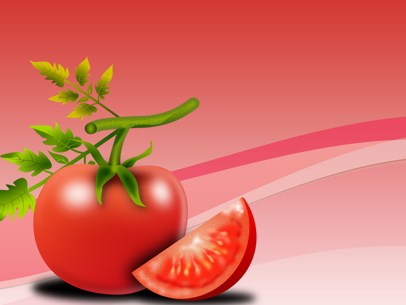 Tomato Foods Powerpoint Backgrounds