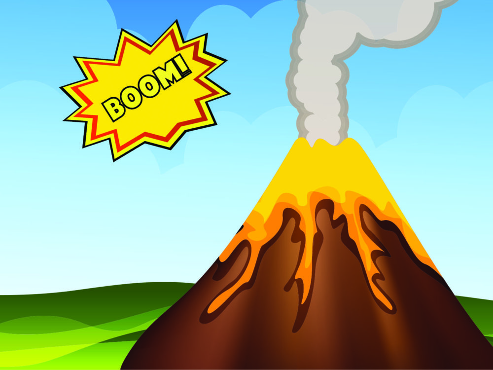 volcano eruption backgrounds  multicolor, nature  ppt backgrounds, Powerpoint