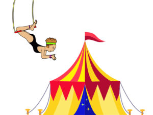 Acrobat in the Circus Powerpoint Backgrounds