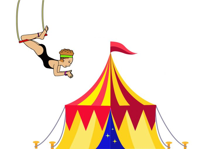 Acrobat in the Circus PPT Backgrounds