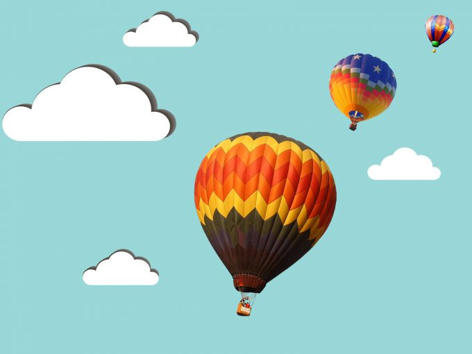 Balloon Tourism PPT Backgrounds