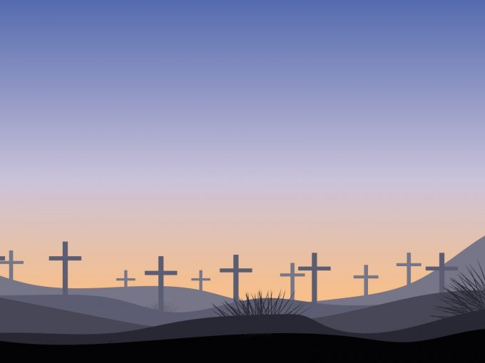 Christian Cemetery PPT Backgrounds