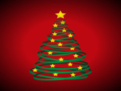 Christmas Tree and Stars Powerpoint Backgrounds
