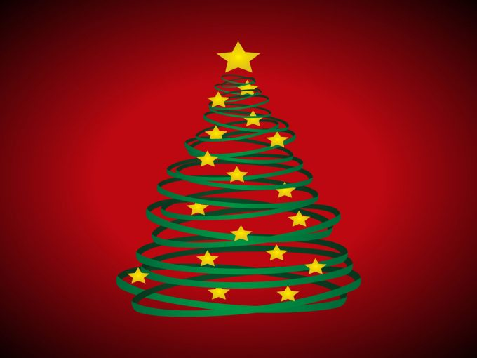 Christmas Tree and Stars PPT Backgrounds