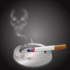 Cigarette and Ashtray powerpoint Backgrounds