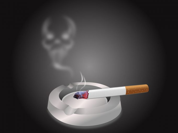 Cigarette and Ashtray PPT Backgrounds