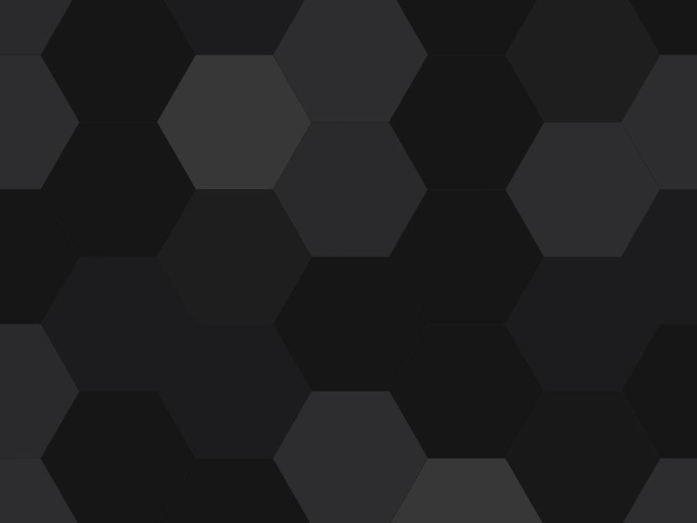 Dark Hexagon PPT Backgrounds - 3D, Black, Grey, White