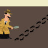 Detective and Footprint Powerpoint Backgrounds