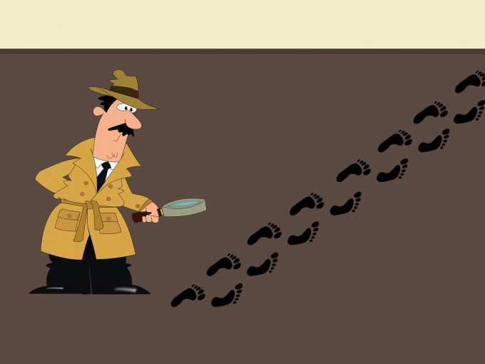 Detective and Footprint PPT Backgrounds