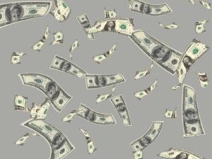 Flying Money Dollar PPT Templates