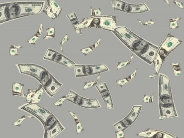 Flying Money Dollar