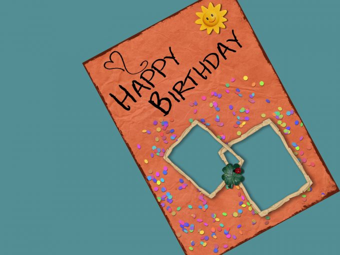 Happy Birthday with Sun PPT Backgrounds