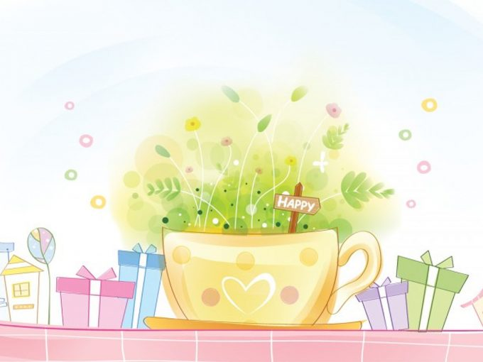 Happy Gift Package PPT Backgrounds