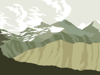 Impenetrable Mountains PPT Backgrounds