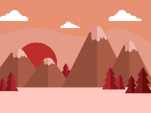 Red Trees PPT Backgrounds