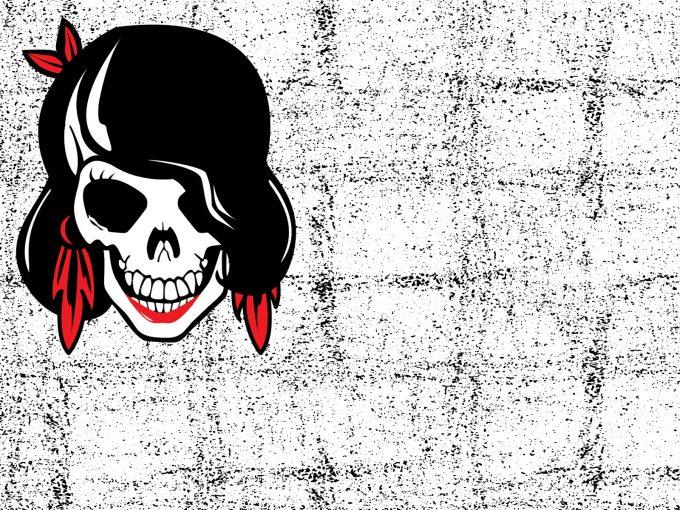 Skull Girl PPT Backgrounds