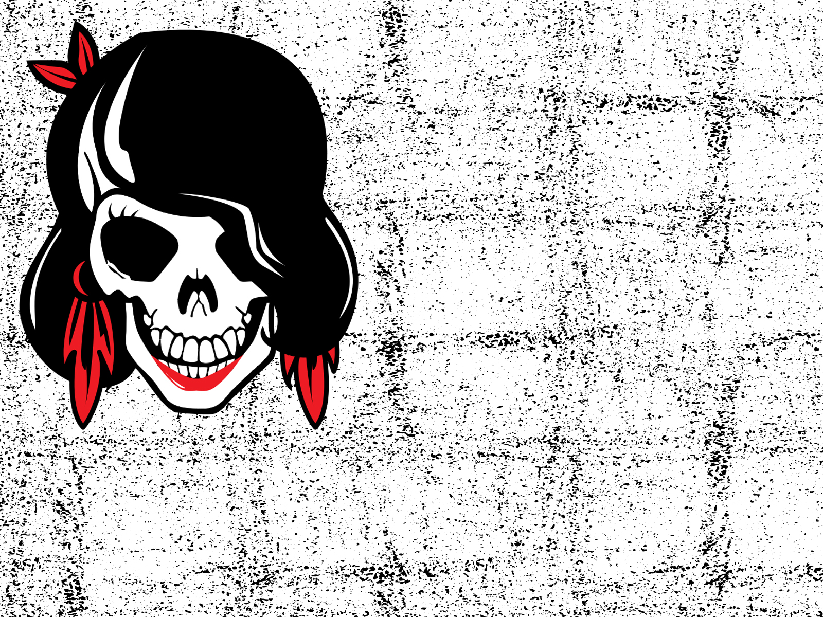 Skull Girl Powerpoint Backgrounds