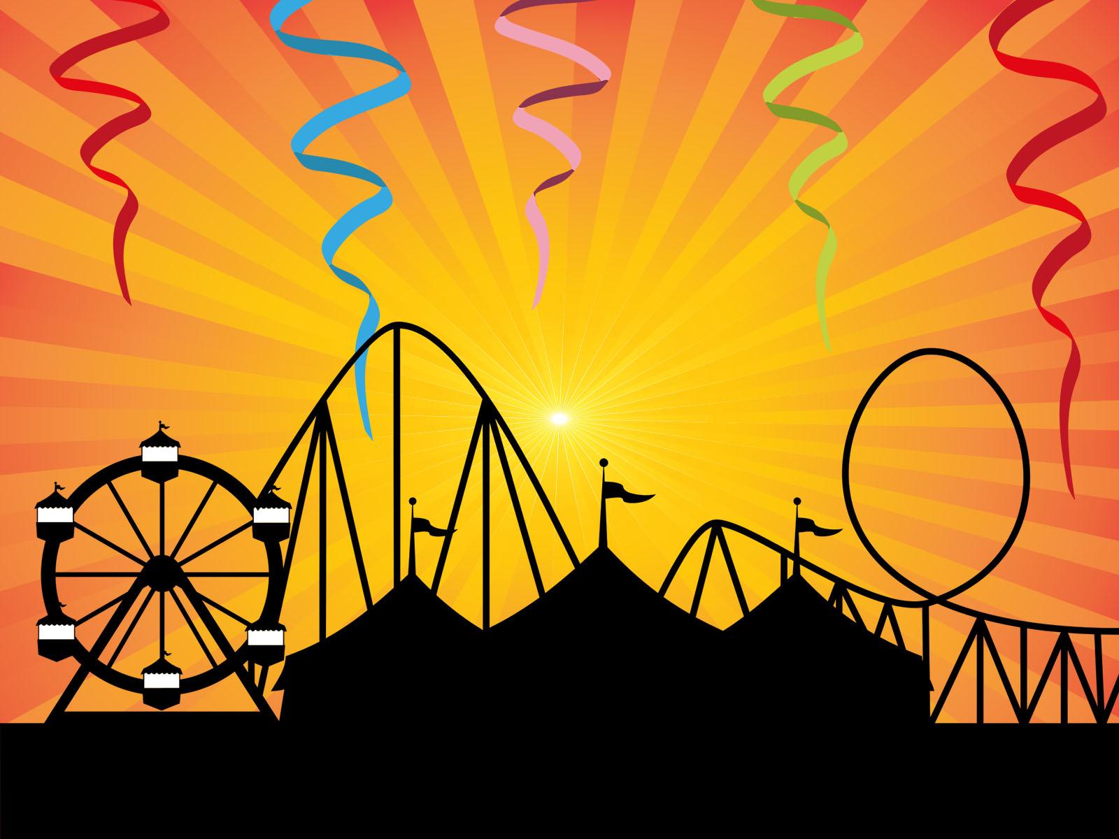 Amusement park backgrounds entertainment templates free ppt amusement park powerpoint templates toneelgroepblik Images