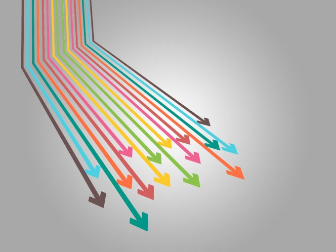 Colorful Arrows PPT Backgrounds