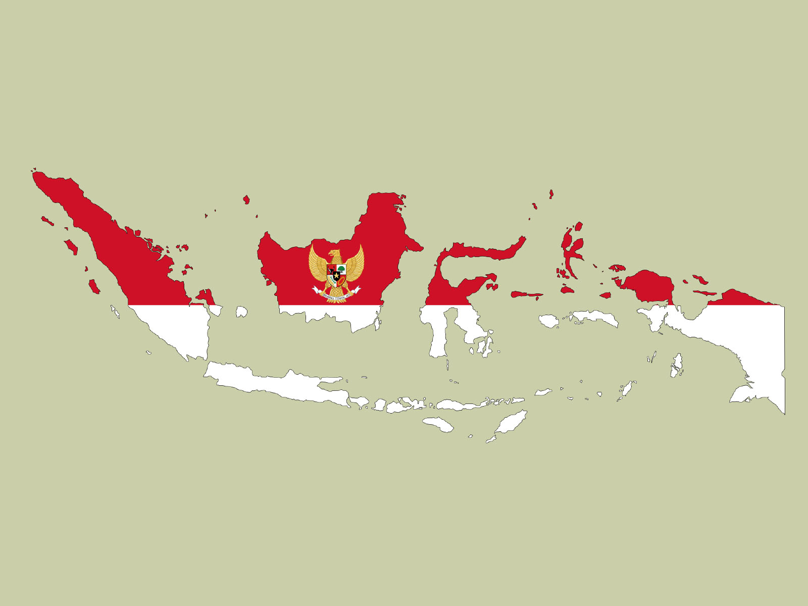 Indonesia Map Powerpoint Backgrounds