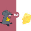 Mice and Chees Powerpoint Templates