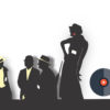 Music Gangsers Silhouettes PPT Backgrounds