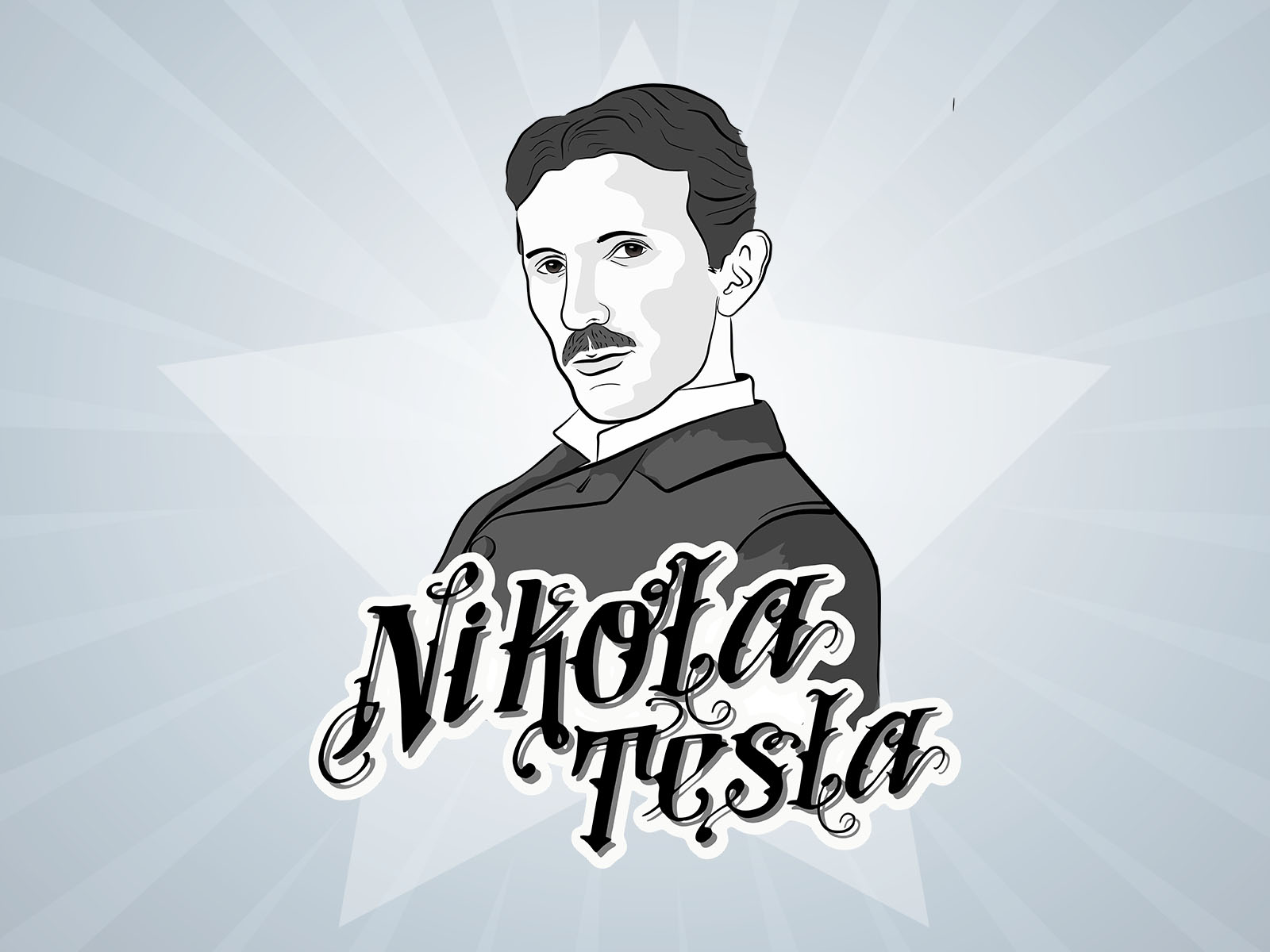 Nicola Tesla Powerpoint Backgrounds