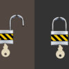 Open Close Padlock Powerpoint Templates