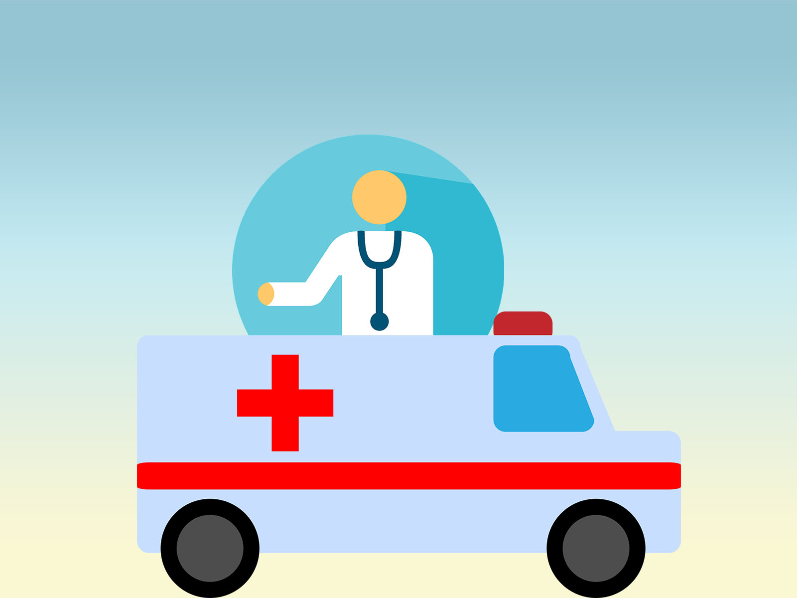 Ambulance Doctor Powerpoint Backgrounds