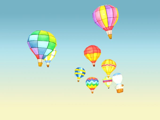 Balloon Tour PPT Backgrounds