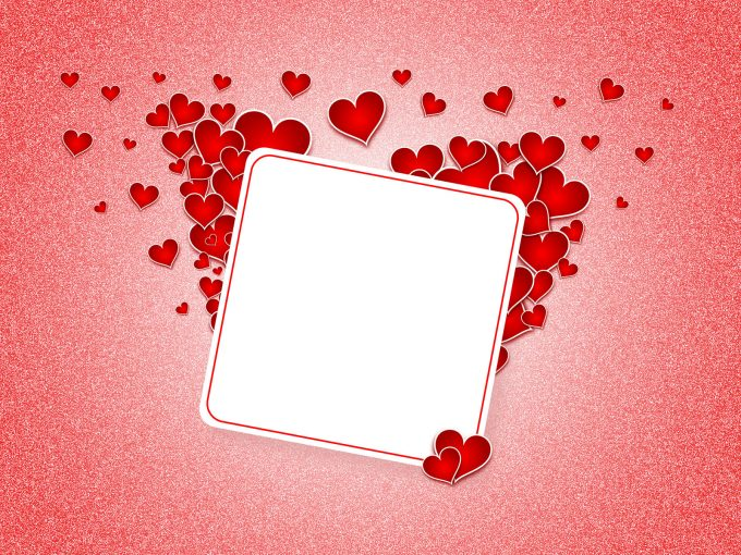Heart Postcard PPT Backgrounds