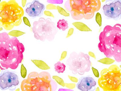 Romantic Watercolor Floral Background