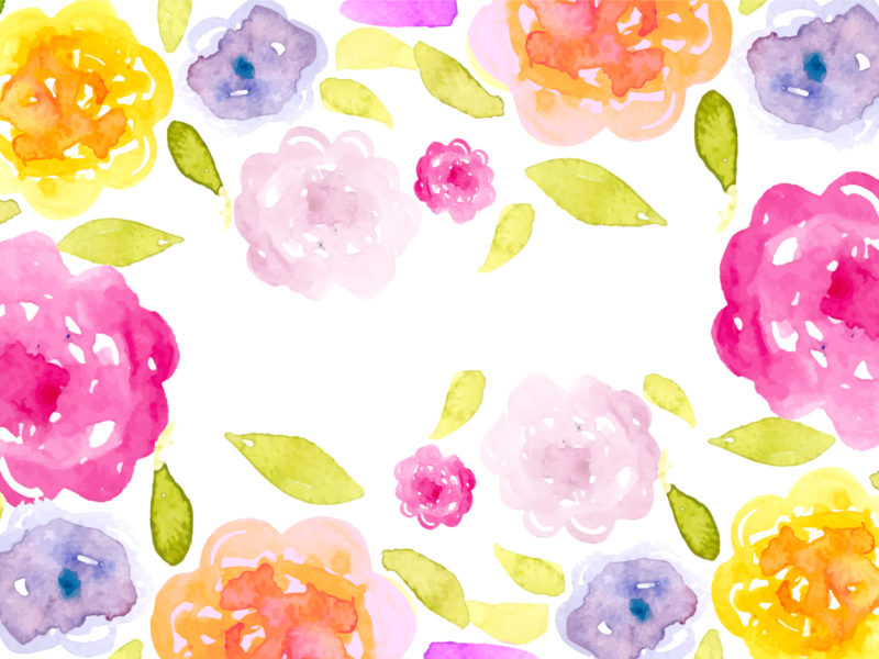 Romantic Watercolor Floral Background